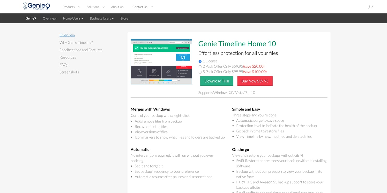 Genie Timeline Home