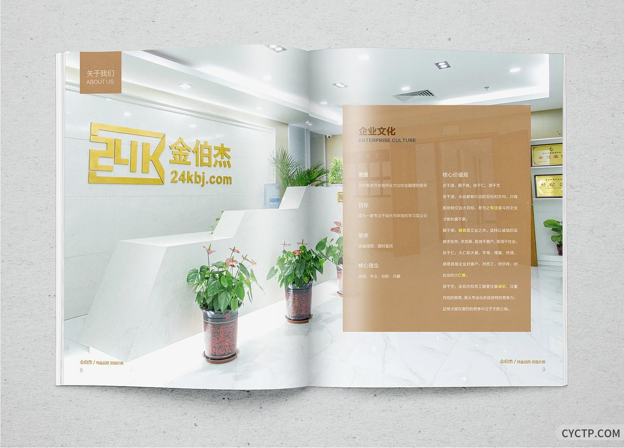 金伯杰金融公司宣传册理财公司画册